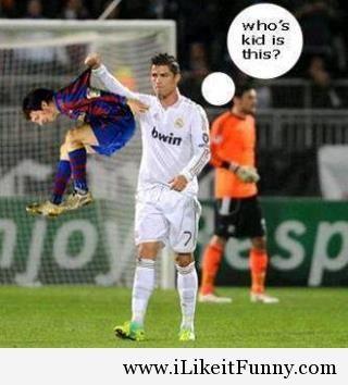 Ronaldo vs Messi funny photos