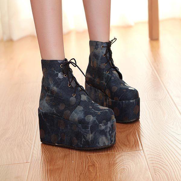 Найти ещё Сапоги и ботинки Сведения о 2014 новые прибытия серебро мода горошек ботинки на шнуровке клинья туфли на каблуках женщин на платформе осень туфли размер 30   43, высокое качество Ботинки, которые добавляют высоту, Китай чистка деревьев для сапог поставщиков, Бюджетный обувной отдел сапоги из Shirley  shoes store на Aliexpress.com