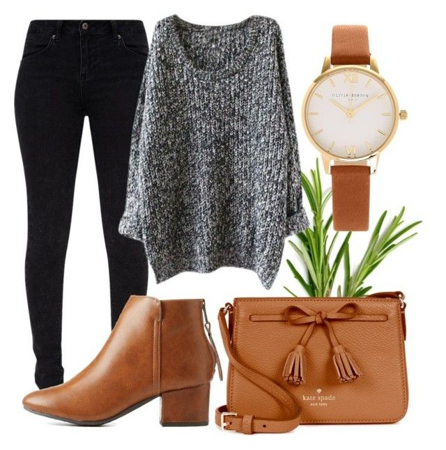 """""""A bit of brown"""" by danickaroetz on Polyvore featuring Olivia Burton, City Classified and Kate Spade"""