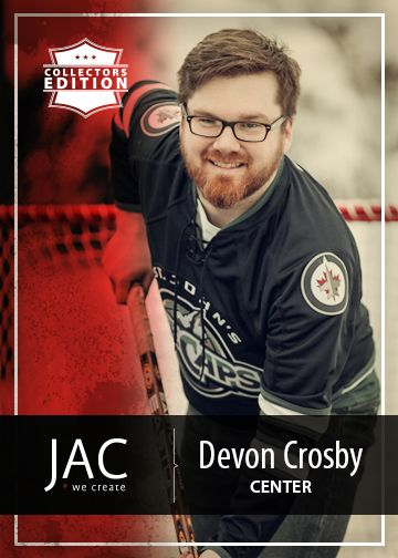 Devon Crosby | Center | Devon is our lead developer involved in programming, social media, website design, development, management and much, much more. Center ice - covering all zones in the JAC arena.