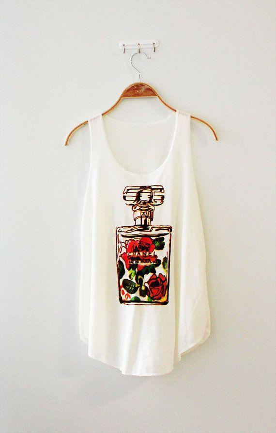 chanel shirt. chanel tshirt perfume shirt women\u0027s tank white by thelillip o