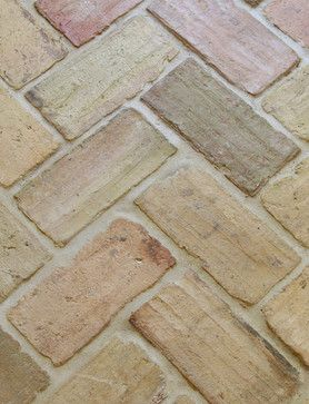 love the brick for the floor very durable for heavy traffic area  French Cottage Style Design Ideas, Pictures, Remodel, and Decor - page 2