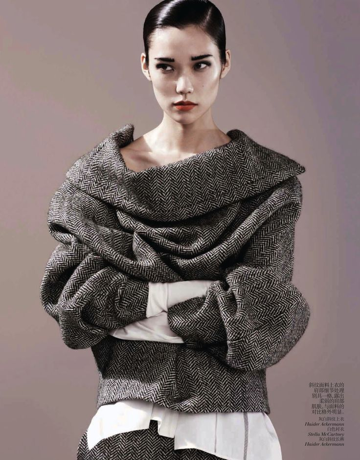 Haider Ackermann (menswear inspiration: tao okamoto by josh olins for vogue china august 2013)