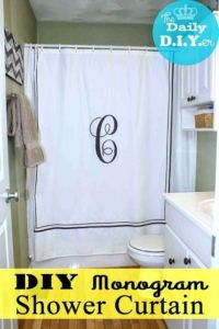 Monogram Shower Curtain Hooks