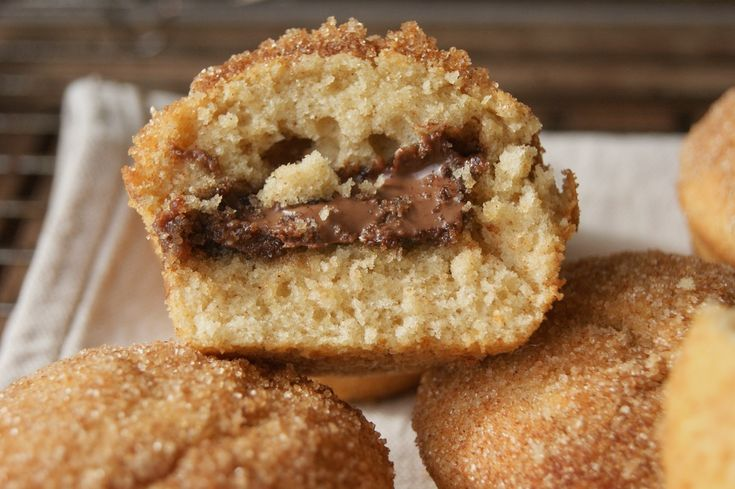 Muffins filled with nutella