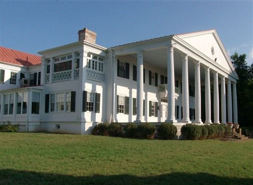 The Grand Portico of Historic Rosemont Manor in Berryville, Virginia