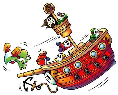 Yoshi and the ship of Shy Guys