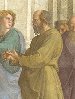 Musei Vaticani - Stanze di Raffaello. Stanza della Segnatura. The school of Athens (Socrate, Detail)