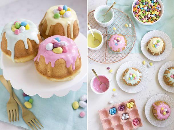 veja como faz um lindo mini  bundt cake para páscoa