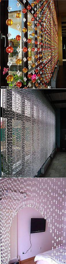 Модные шторы из бусин своими руками