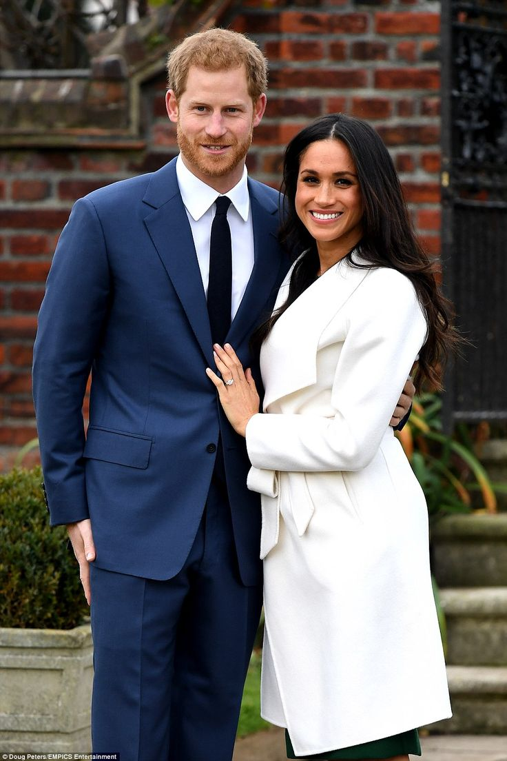 Prince Harry and Meghan Markle attended a photocall to announce their engagement at Kensington Palace, London