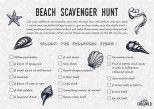 Printable Beach Scavenger Hunt Ideas