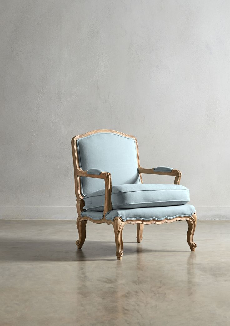 The LILLE Armchair - in Duck Egg Blue - Swoon Editions - swooneditions.com - #frenchcounretfurniture #frenchcountryarmchair