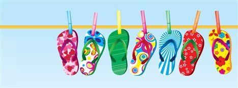 Flip flops! Facebook Cover - Quebles