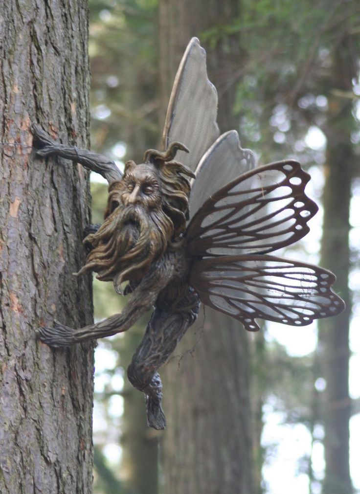 love the idea of an insect faerie that looks like an old man instead of a pretty girl or child. #faerie #garden