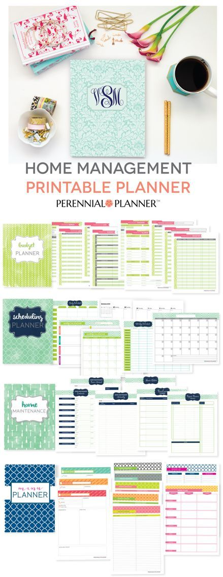 Get your busy life in order with this printable life planner. Budgeting, Meal Planning, Home Maintenance, and Scheduling planners.