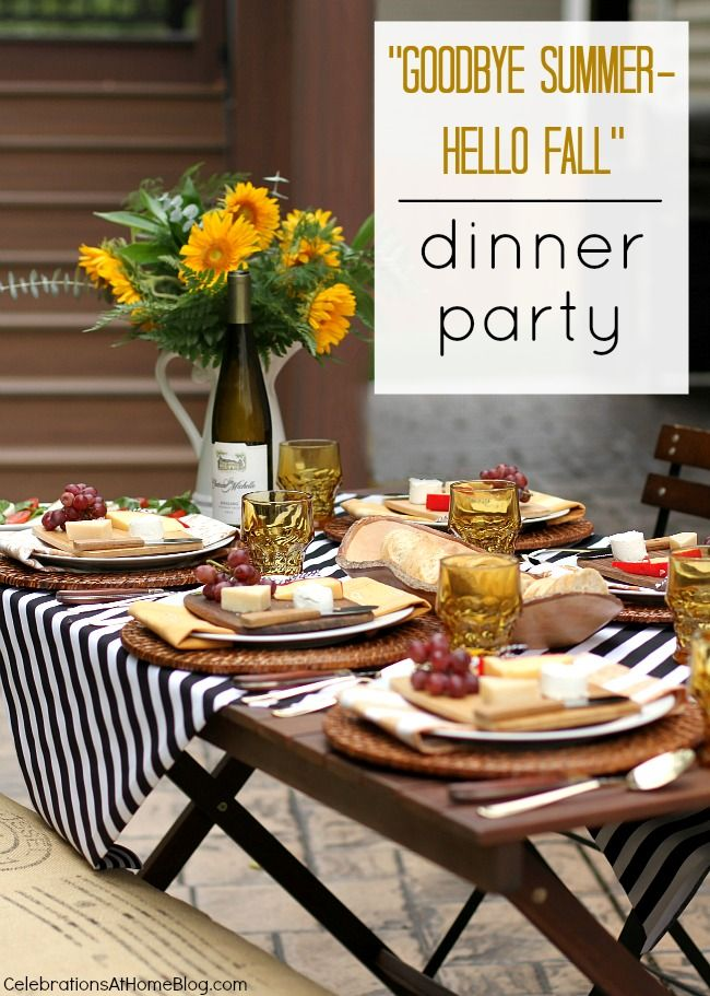 Ordinary Fall Dinner Party Menu Suggestions Part - 14: Entertaining : Welcome Fall With A Dinner Party Al Fresco