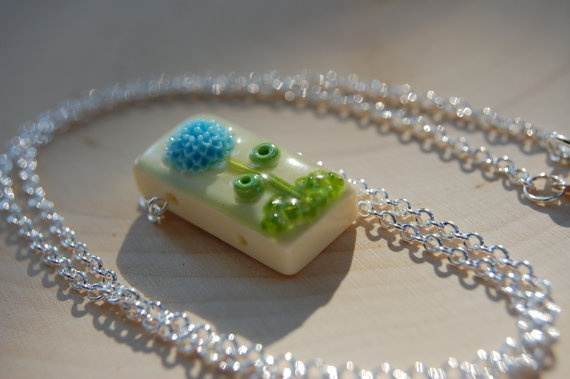 Resin domino necklace! So cool!