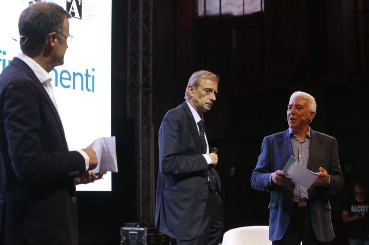Marco Aimetti, Piero Fassino e Giorgio Giani durante l'inaugurazione della quinta edizione di Architettura in Città, 30 giugno presso l'ex Borsa Valori di Torino. Foto di Jana Sebestova #AIC2015 #sconfinamenti