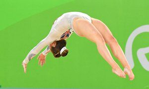 Rio 2016 Olympic Games, Gymnastics, Rio Olympic Arena, Brazil - 16 Aug 2016Mandatory Credit: Photo by ddp USA/REX/Shutterstock (5830246bb) Amy Tinkler (GBR) competes during to the women's floor exercise final Rio 2016 Olympic Games, Gymnastics, Rio Olympic Arena, Brazil - 16 Aug 2016