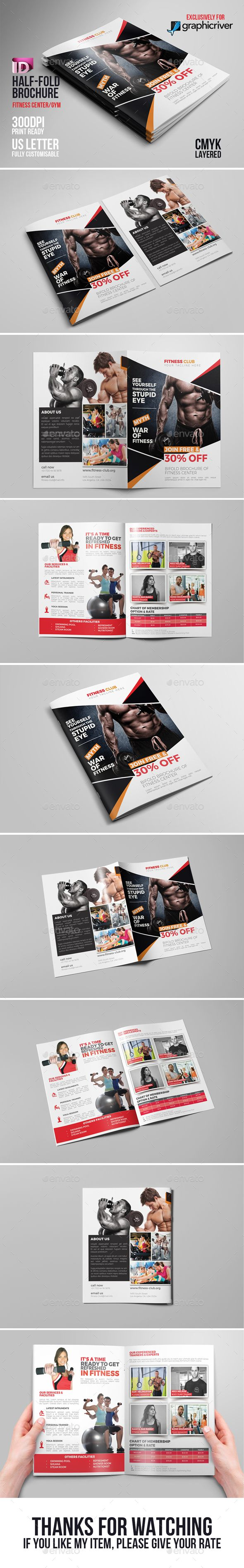 Fitness  Gym  Sports Bifold  Gym Brochure
