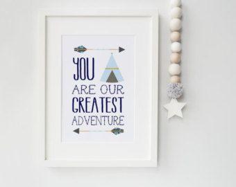 Kinderzimmer Wand Kunst Zitat Sie sind unsere von LaLunaDesigns