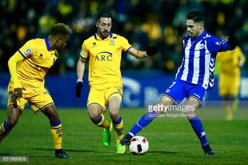 01-18 ALCORCON, MADRID - JANUARY 18: Ruben Sobrino ® of... #vallegranrey: 01-18 ALCORCON, MADRID - JANUARY 18: Ruben Sobrino… #vallegranrey