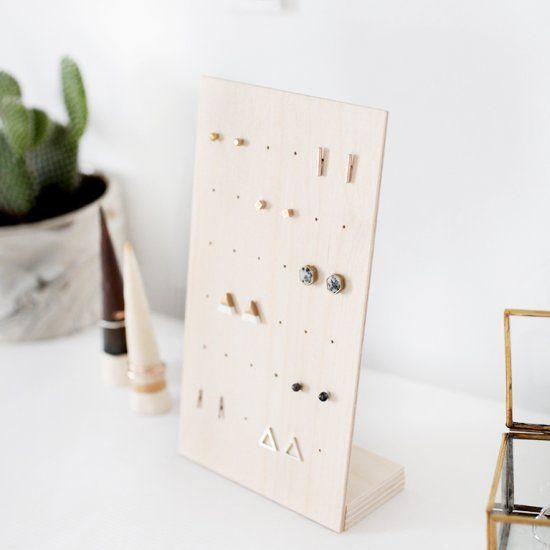 Organize your post earrings with this simple DIY Earring Stand!