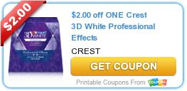 Tri Cities On A Dime: $2.00 COUPON ON CREST 3 D WHITE PROFESSIONAL EFFEC...
