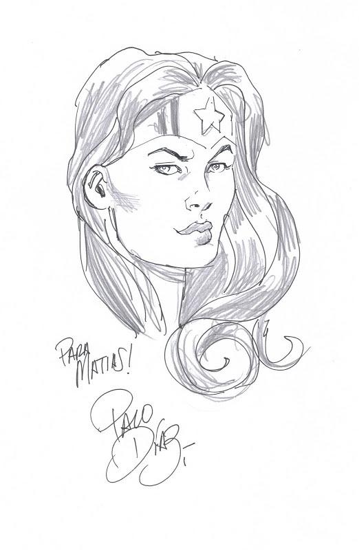 MIS DIBUJOS DE DIBUJANTES DE COMIC: Wonder Woman de Paco Diaz