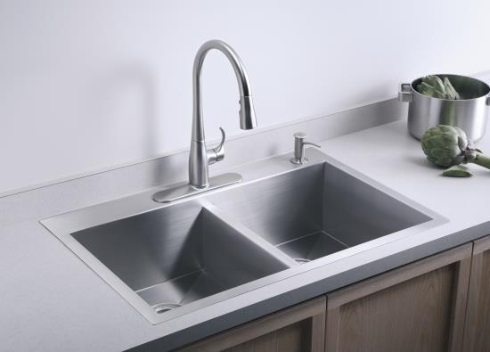 Kohler Square Sink : Square double kitchen sink Kitchen love Pinterest