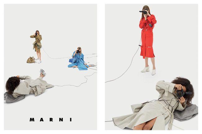 Marni Spring 2017 Ad CampaignBY THE IMPRESSION TEAM Photographer   Barbara ProbstModels   Lisa Helene Kramer, Mali Koopman, Jess PW,