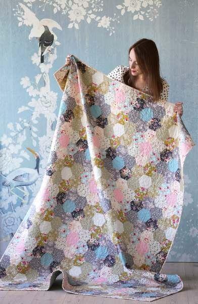 Tilda Memory Lane Quilt Kit with Hexagons