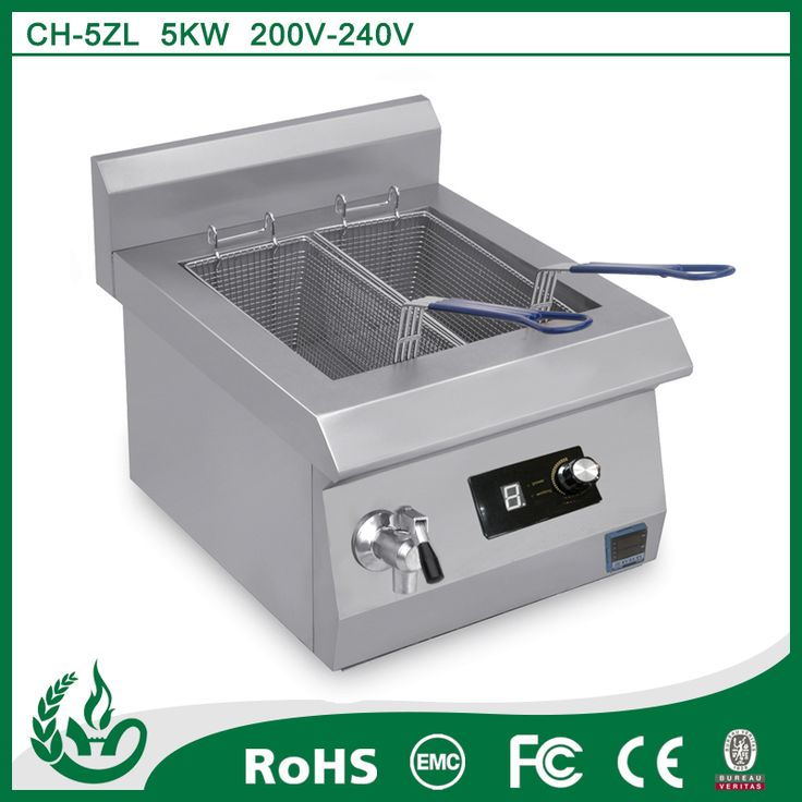 Restaruant equipment high quality round fryer electric deep fryers