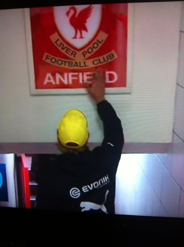 Gotta love Jurgen Klopp... #LFC #BVB #Anfield