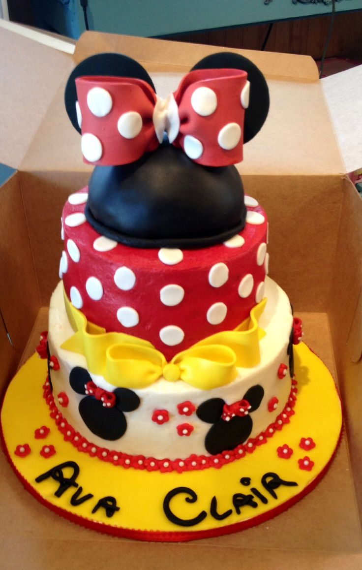Minnie Mouse Birthday Cake Mickey Mouse Party