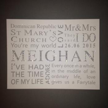Personalised Wedding Canvas 2