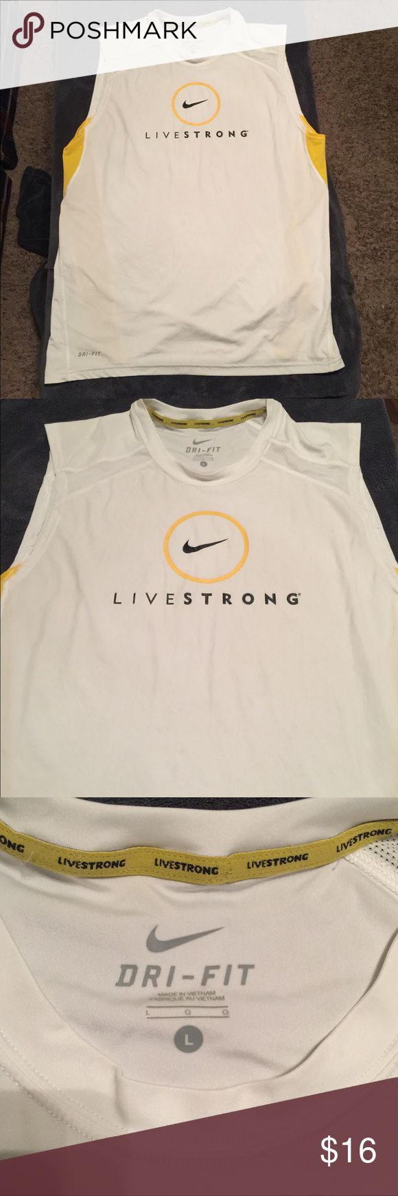 Nike Livestrong Tank Dri-Fit New without tag never worn Nike Livestrong Tank Size L Nike Shirts Tank Tops