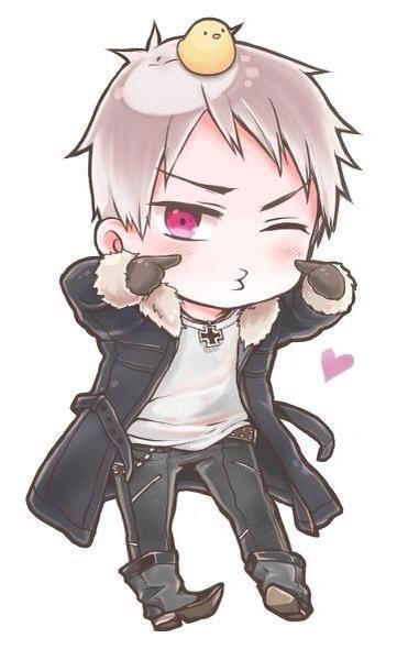 Prussia Chibi! Smaller size, still awesome. And absolutely adorable