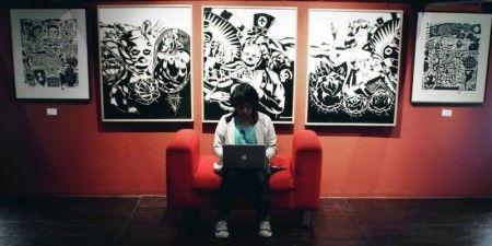 Ahadin Syarifudin Fahmi: Foto diambil di acara Pameran Seni Grafis Indonesia di House of Sampoerna Surabaya