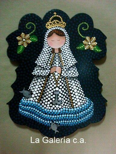 Puntillismo: Virgen.