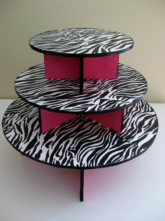 Love this... sure i could find some use for it lol ...Zebra Cupcake Stand
