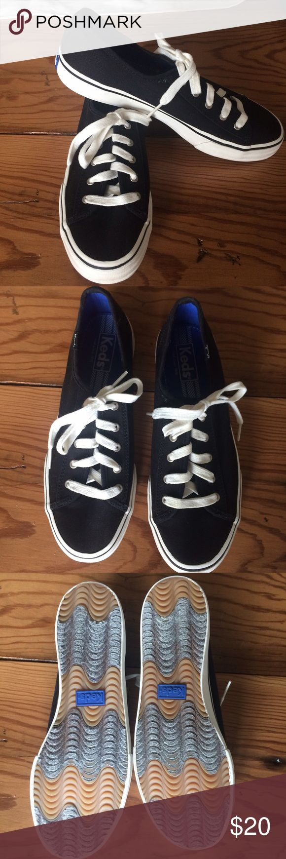 Black Keds size 7 1/2 Black Keds size 7 1/2 Creme laces. Like new condition. Keds Shoes Sneakers