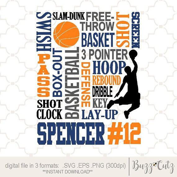 Svg Basketball Basketball Word Collage Basketball Print Etsy Word Collage Words Team Gifts