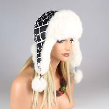 Mujer CONEJOS sombrero de piel Gorro Aviador invierno USHANKA: EUR 73,45End Date: 28-nov 10:52Buy It Now for only: US EUR 73,45Buy it now |…