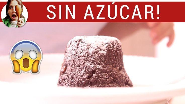 VOLCÁN DE CHOCOLATE SIN AZÚCAR (Coulant de chocolate) https://youtu.be/tFcb8L_P8i4