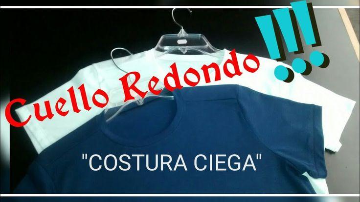 """Playera Cuello Redondo """"COSTURA CIEGA"""" (Vídeo Sugerido)"""