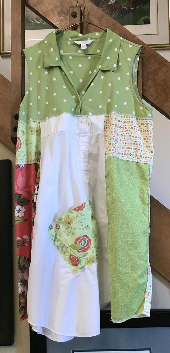 Upcycled Women's Clothing Repurposed Patchwork