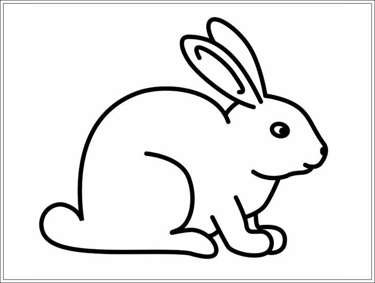 Ausmalbilder Hase, Vorlage Hasen, Hase Ostern | Kaninchen ...