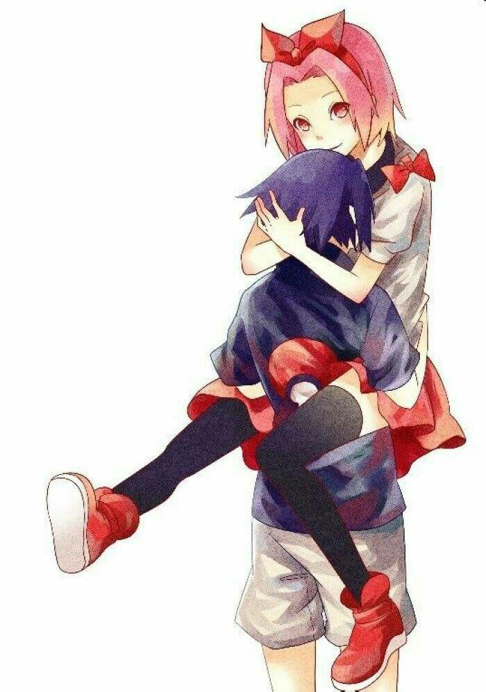 sasusaku #child #crianças #Sasuke #sakura #naruto #konoha
